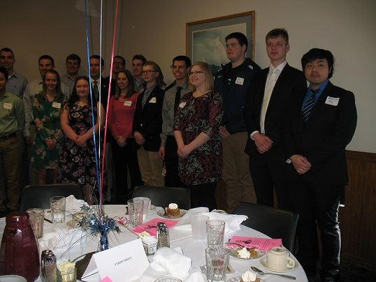 Our wonderful group of 21 students who attended the dinner.  From 8th grade to a Masters Candidate.  What a great group!